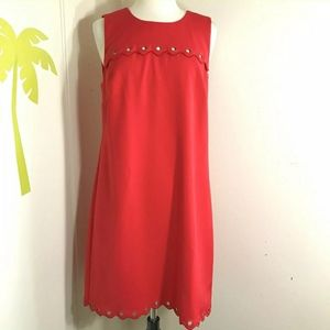 J. Crew Scalloped Dress with Grommets
